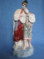 Orosz porcelán szerelmespár 28 cm