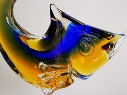 Régi muránói üveg hal levélnehezék