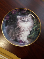 Angol cicás gyűjtői dísztányér Franklin Mint Heirloom Recommendation Purrfection