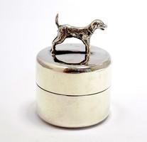 Ezüst kutyás fogtartó dobozka (ZAL-Ag89971)