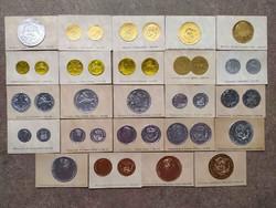 24 db-os ritka érme lenyomat a háború előtti időkből. (id36546)
