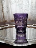 Metszett kristály  pohár