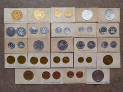 24 db-os ritka érme lenyomat a háború előtti időkből. (id36548)