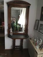Tükör konzol asztallal