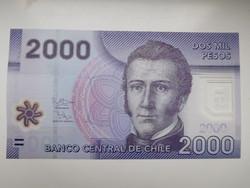 Chile 2000 peso 2013 UNC  Polymer
