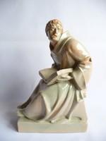 Tóth Gyula kerámia Assisi szent Ferenc-szobor
