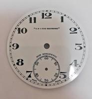 S&S Time Recorder  zsebóra számlap NOS.  állapotban