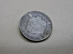 Csodás antik 1848-as ezüst 20 krajcárból bross