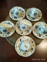 Zsolnay búzavirágos  kávéspohár készlet 6 db