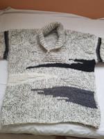 Vastag gyapjú meleg férfi pulóver