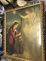 Krisztus ábrázolás, festmény, vegyestechnika, 45 x 30 cm-es.