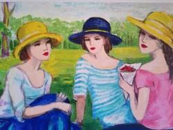 Anna Novak: Piknikező hölgyek
