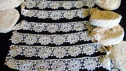 Díszes csipke szalagok vitrázs,ruha,terítő... tekercs, összesen 12 méter!!