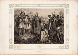Képek Magyarország történetéből (11), litográfia 1873, kőnyomat, eredeti, történelmi, 21 x 30, Imre