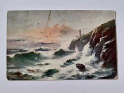 Régi képeslap 1906 Port Skillion Isle of Man Ausztrália tengerpart