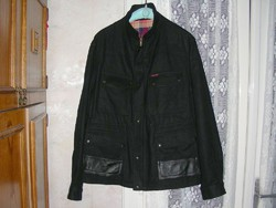 Férfi gyapjú átmeneti kabát