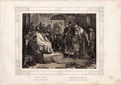 Képek Magyarország történetéből (4), litográfia 1873, kőnyomat, eredeti, történelmi, 21 x 29, Erdély