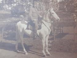 Régi fotó 1916 fénykép lovas katona