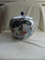 Szép kézzel festett kínai váza-kaspó