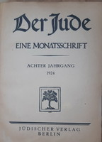 DER JUDE  - EINE MONATSSCHRIFT   1924 -  RITKA !  - JUDAIKA