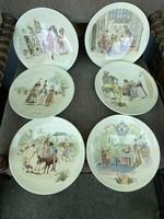 Sarreguemines Porcelán életképes tányérok