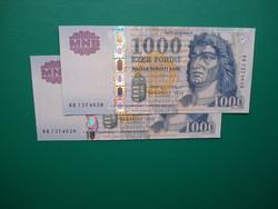 2*1000 forint 2015 DD sorszámkövető aUNC/UNC