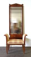 1B976 Antik empire pipere asztal fésülködő asztal ülőkével 210 cm
