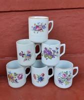 Zsolnay porcelán ibolyás , virágos  bögre, bögrék, nosztalgia, régiség. Egyben eladók. Bögre csomag