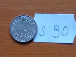 SURINAME 10 CENT 1976 KAKAS ALU. S90