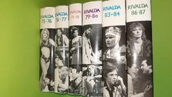 Rivalda sorozat 75-76;76-77;77-78;79-80;83-84;86-87, hat példánya egyben.  1500.-Ft