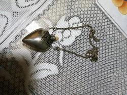 Antik szív alakú parfumtarto nyaklanc
