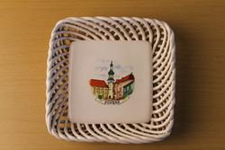 """Retro Bodrogkeresztúri kerámia tálka """"Sopron"""" díszítéssel"""