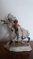 HERENDI Porcelán ( Csikós lovát fékezi ) - 26 cm. magas - HIBÁTLAN