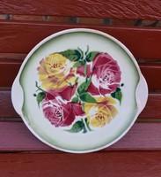 Ritka Gránit rózsás tortatartó, nosztalgia, Gyűjtői szépség