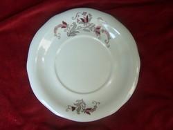 Zsolnay tányér  Csontszínű alapon festett, aranyozott virágmotívumokkal díszített, Zsolnay márkajell