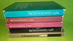 Írószemmel sorozat 1978-1981-1982-1983-1984 öt példánya egyben. 1500.-Ft