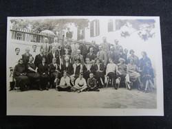 1926 BALATONFÜRED JELZETT FOTÓ FOTÓGRÁFIA BALATON CSOPORTKÉP ELÖKELŐ TÁRSASÁG