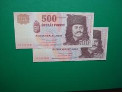2*500 forint 2013 EA sorszámkövető aUNC/UNC
