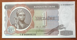 Zaire 1 zaire 1981 UNC