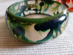 Zöld bakelit karkötő, karperec 60 g