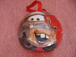Villám McQuenn Disney Pixar fém  karácsonyfa dísz golyó
