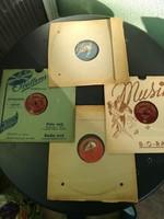 Antik gramofon lemez gyűjtemény