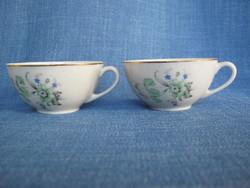 Kőbányai porcelán csésze pár