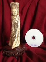 Kínai Csont Faragás Szobor Császár nő Uralkodó Hölgy Figura Keleti