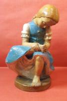 """Olt Margit - """"Tövist húzó lány"""" kerámia szobor"""
