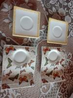 2x2 db porcelán csésze alátét   X
