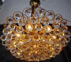 Bécsi Lobmeyr kristálycsillár 7égős II.Valódi kristály csillár