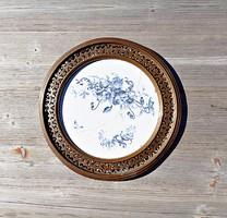 Régi porcelán, réz tálca