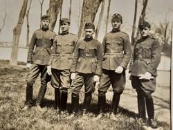 Régi katona fotó 1928 fénykép csoportkép