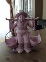 Antik Biszkvit porcelán asztali fűszertartó, lila színű